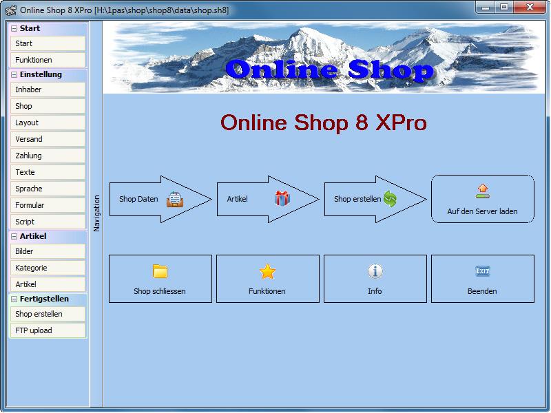 Freeware Online Shop full screenshot